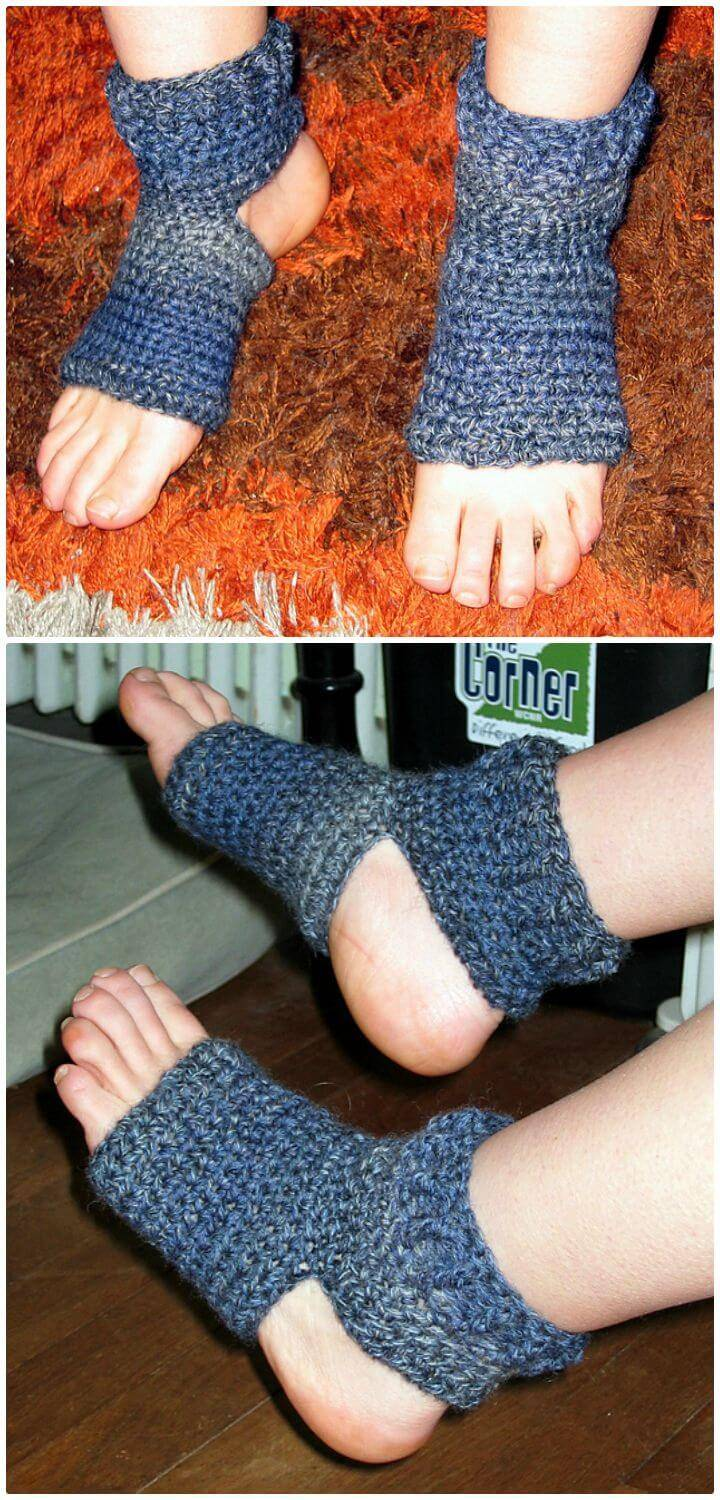 Crochet Achsah's Yoga Socks - Free Pattern