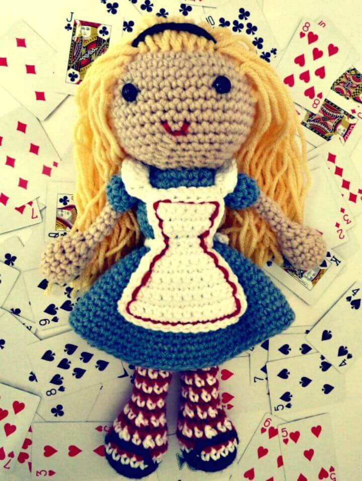 How To Crochet Alice In Wonderland Doll - Free Pattern