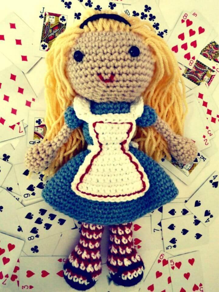 How To Crochet Alice In Wonderland Doll - Free Pattern