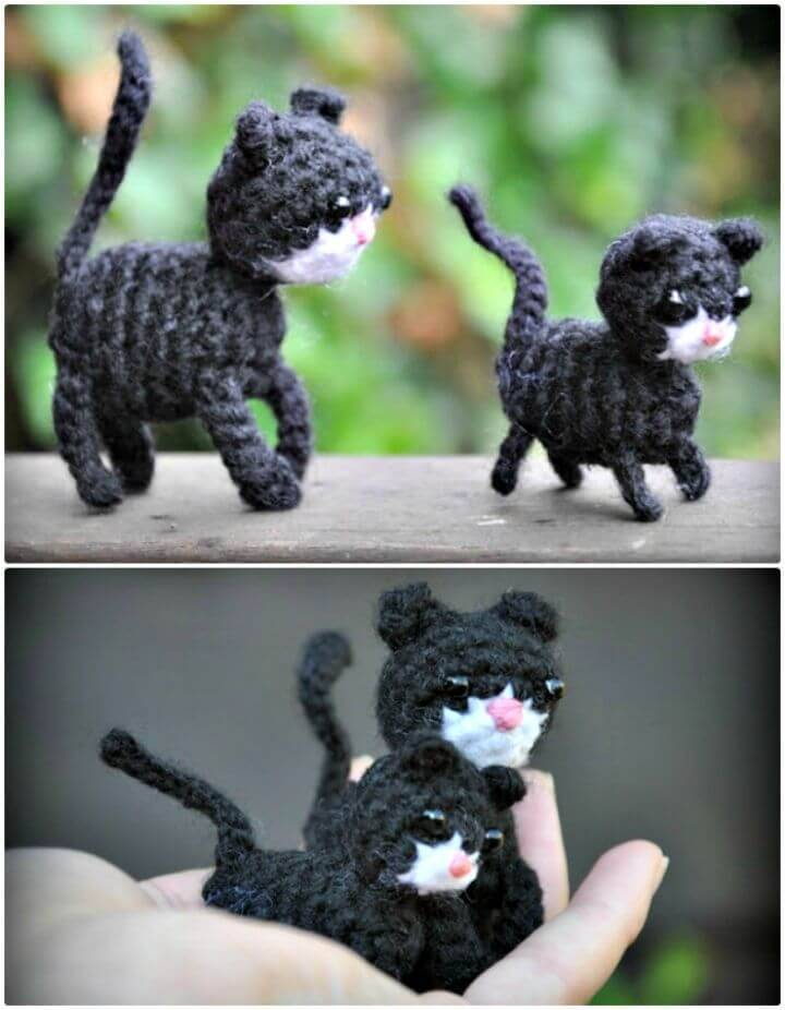 How To Free Crochet Amigurumi Pattern Cat With Kitten
