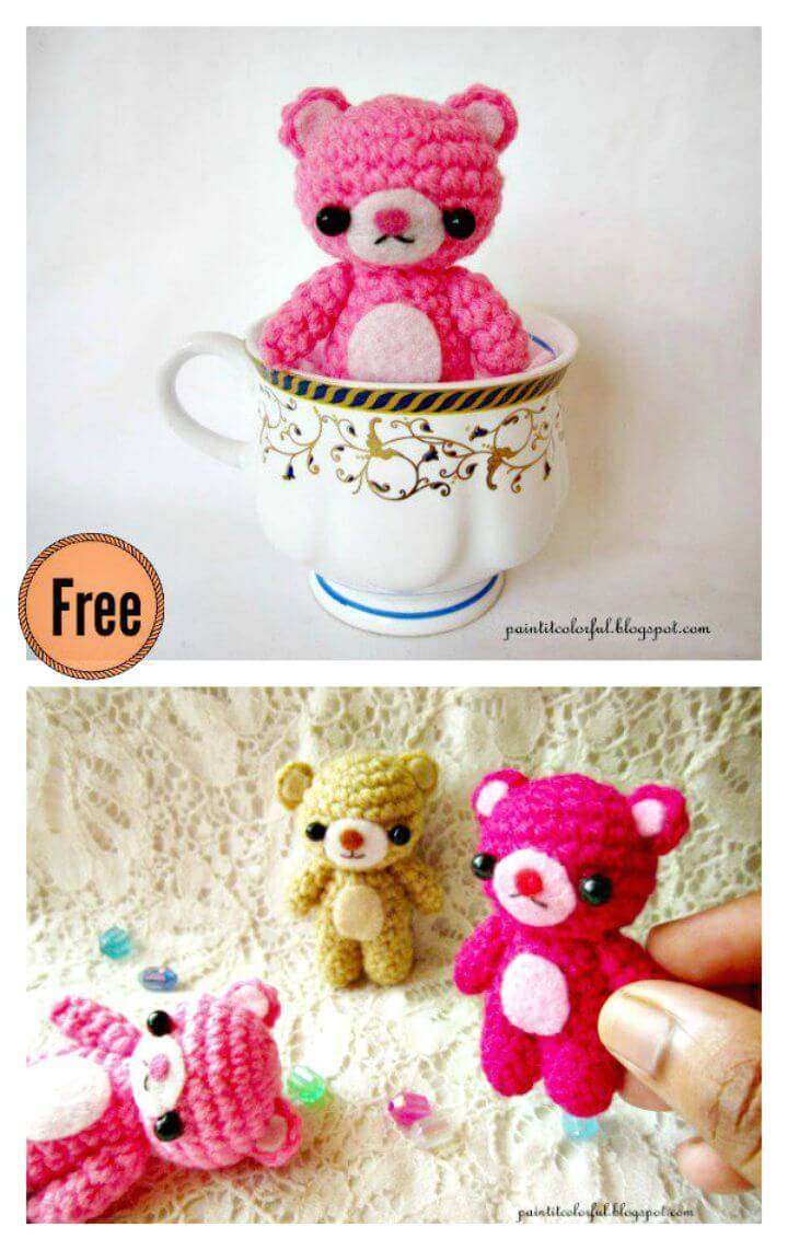 50 Free Crochet Teddy Bear Patterns - DIY & Crafts