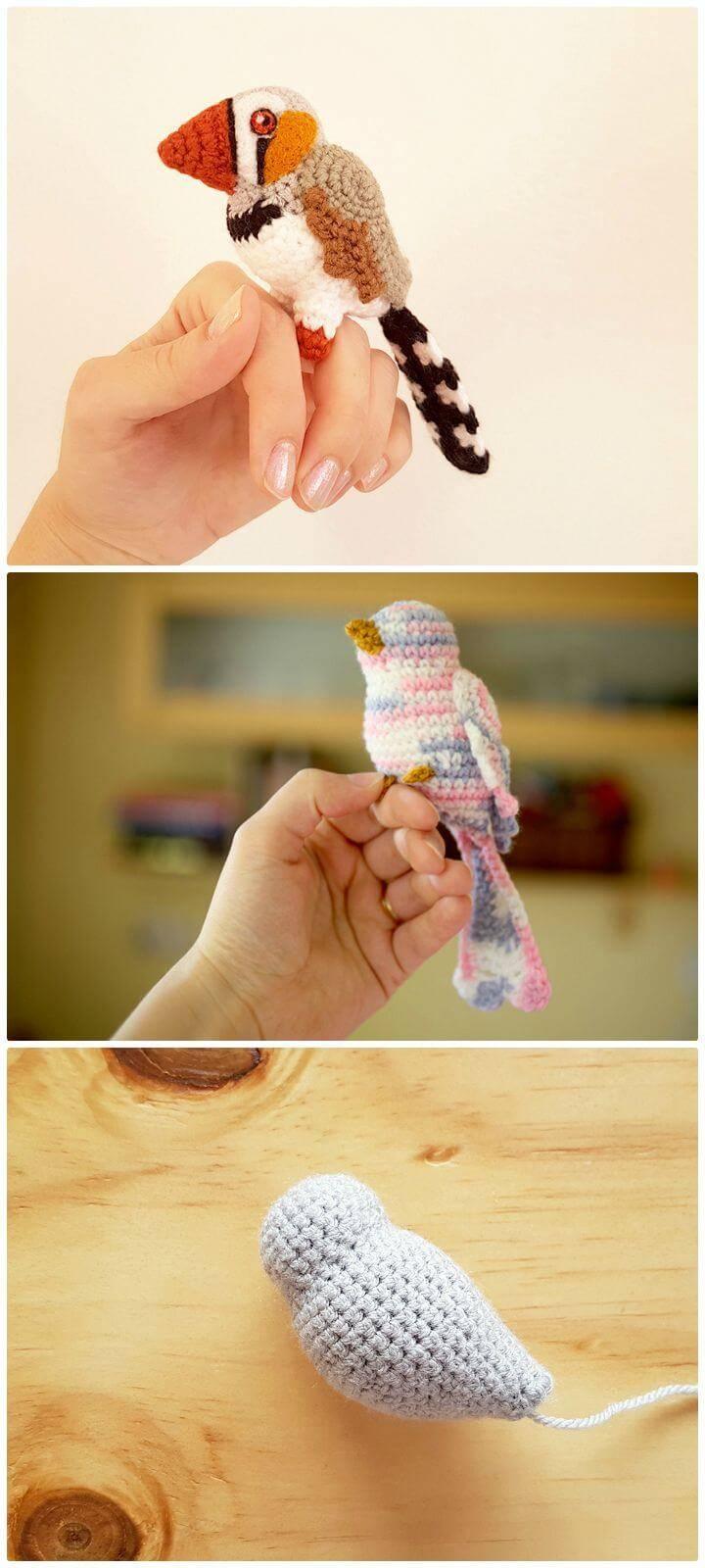 Amigurumi Zebra Finch - Free Crochet Pattern