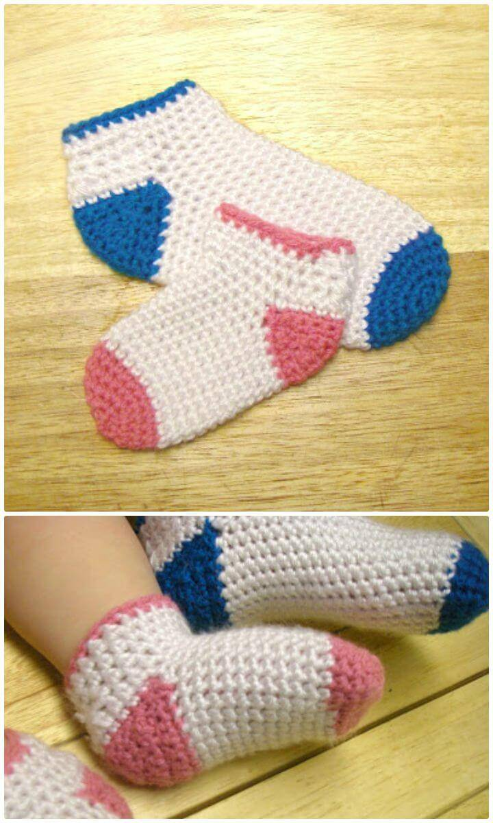 Easy Free Crochet Baby – Toddler Socks Pattern