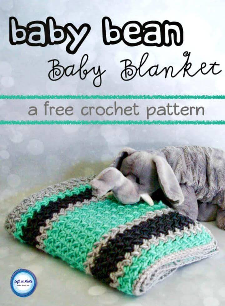 Free Crochet Baby Bean Baby Blanket Pattern