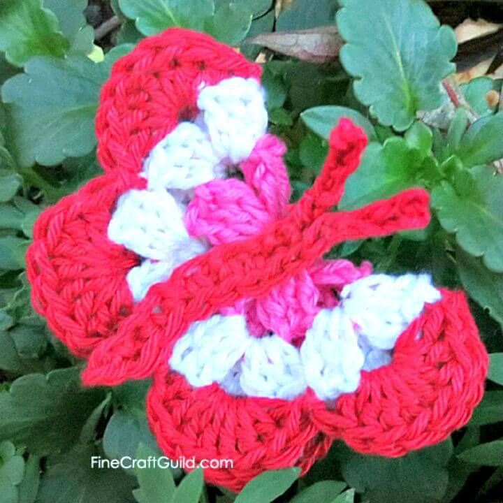 Easy Free Crochet Butterfly Crafts For Kids Pattern