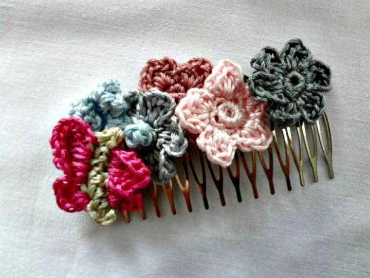 Free Crochet Butterfly Hairpins Pattern