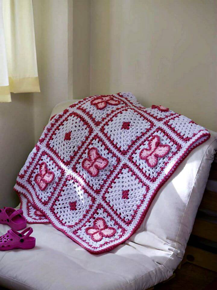 How To Free Crochet Butterfly Throw Pattern