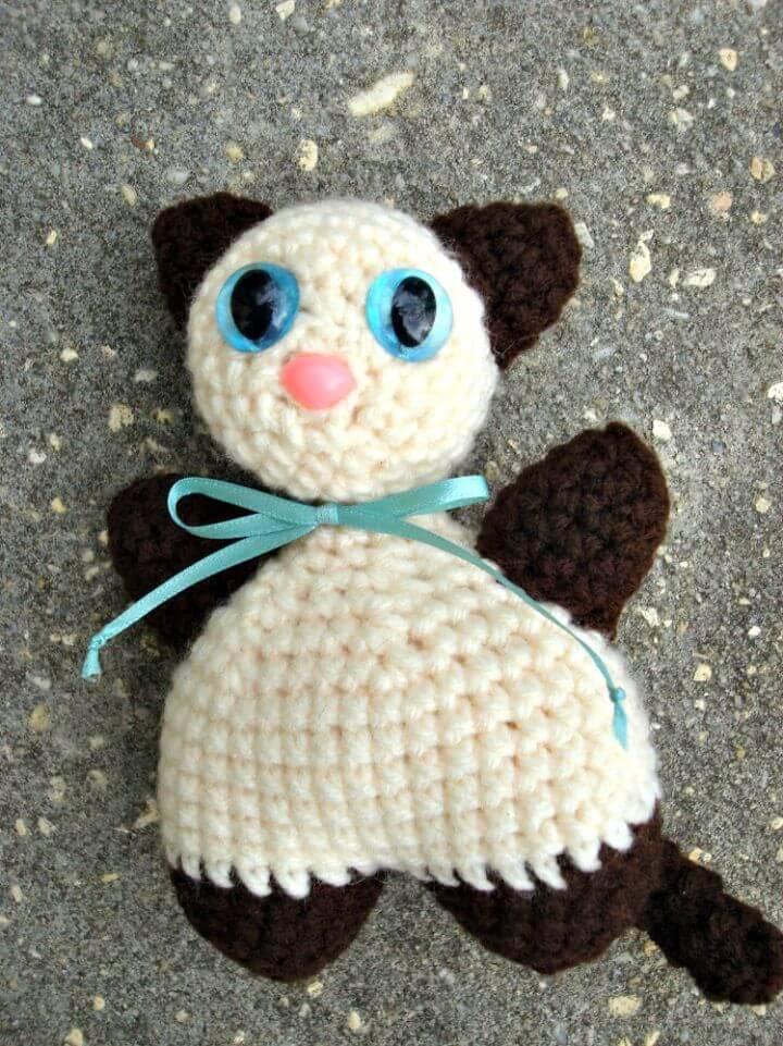 How To Free Crochet Chubby Amigurumi Cat Pattern