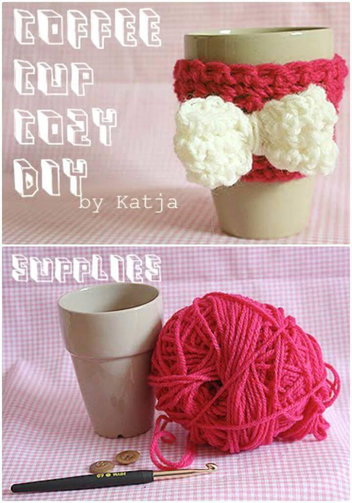 Easy Free Crochet Coffee Cup Cozy Pattern