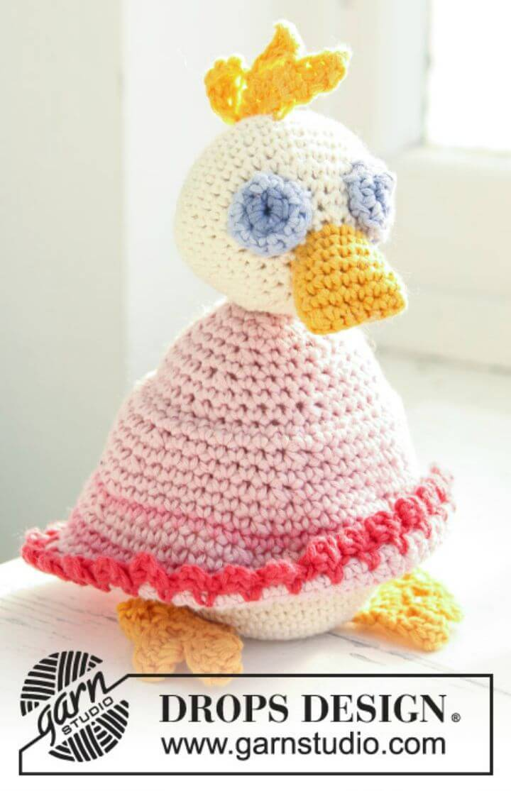 Easy Free Crochet Colorful Duck- Free Bird Pattern