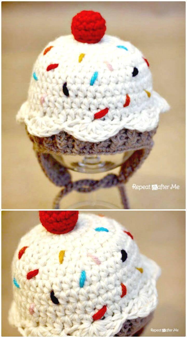 Free Crochet Cupcake Hat Pattern