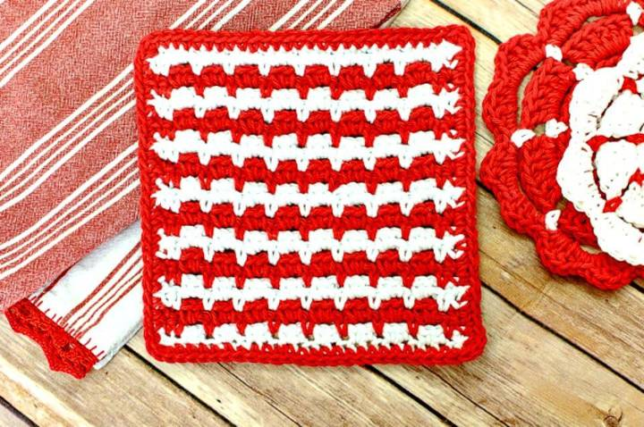 How To Free Crochet Dishcloth Pattern