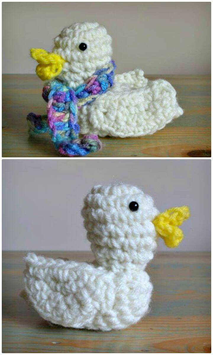 How To Free Crochet Duck - Bird Pattern