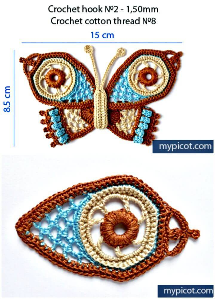 Easy Free Crochet Fancy Butterfly Pattern