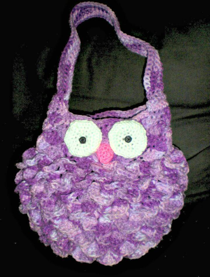 Free Crochet Fat Owl Bag Pattern