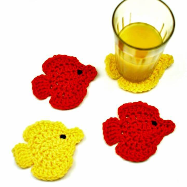 Free Crochet Fish Coasters Pattern