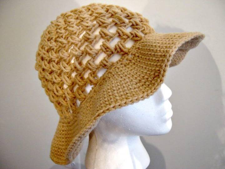 Free Crochet Floppy Sun Hat Pattern