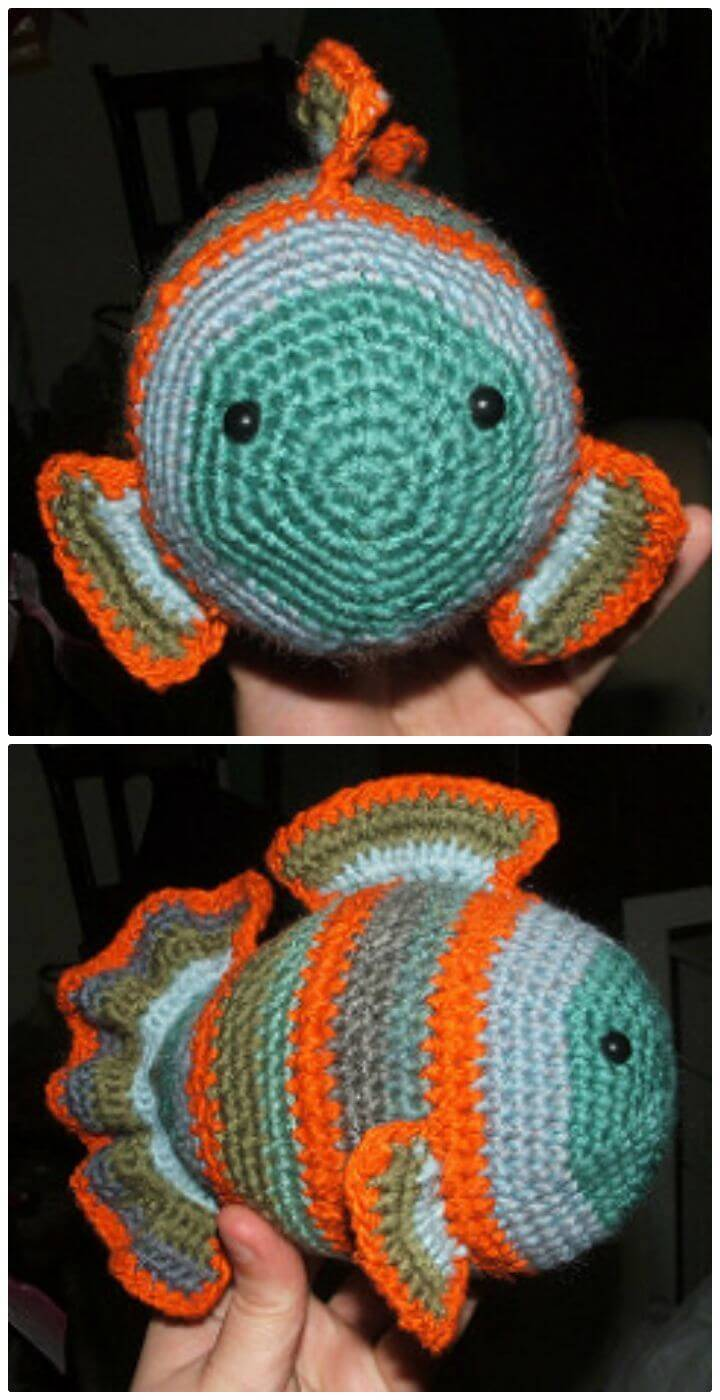 How To Free Crochet Fredde Fish Pattern