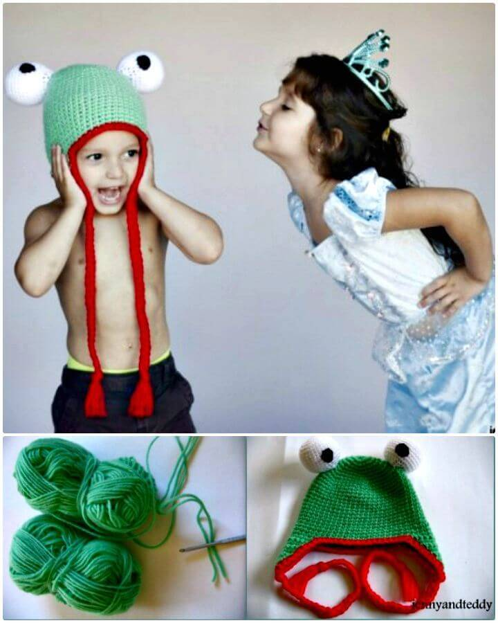 How To Free Crochet Frog Hat Pattern