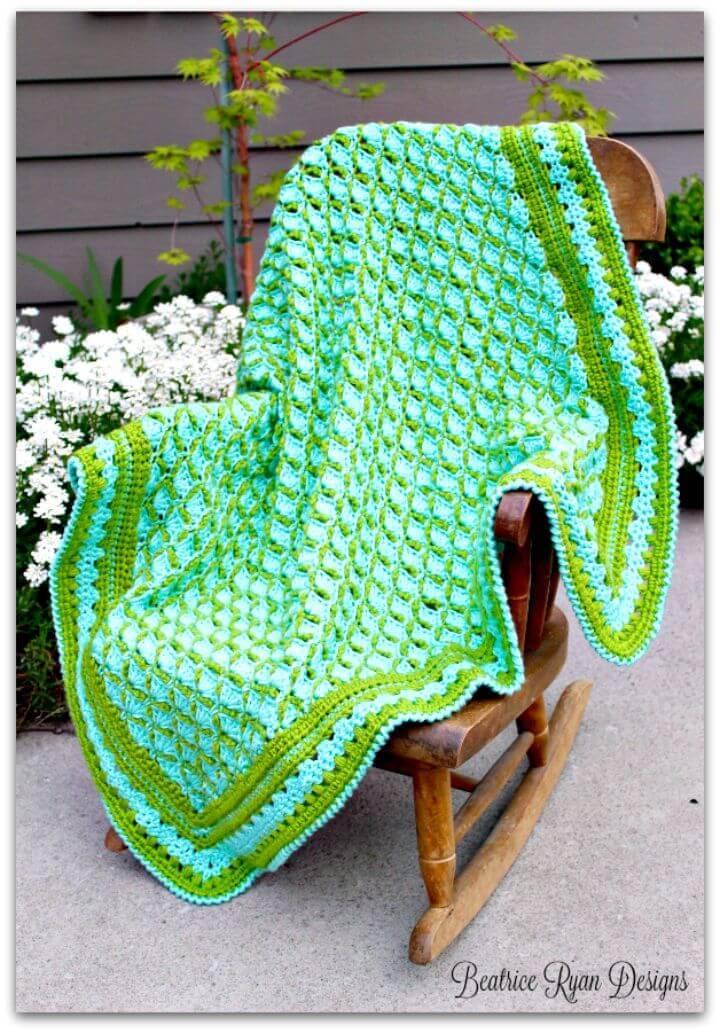 Crochet Frog Pond Baby Blanket - Free Pattern