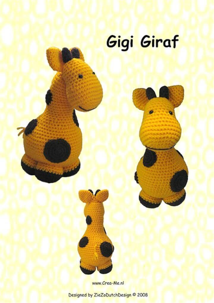 How To Crochet Gigi Giraf Pattern
