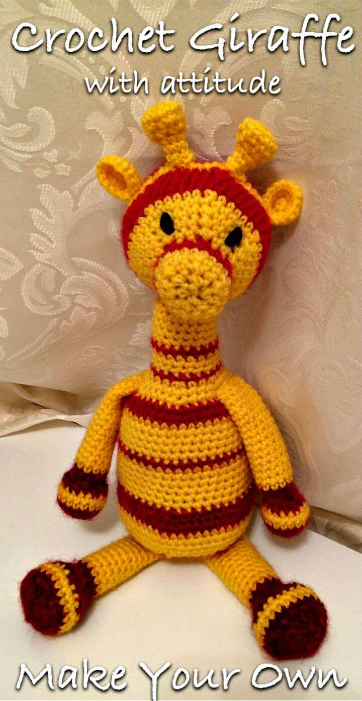An Easy Free Crochet Giraffe Pattern