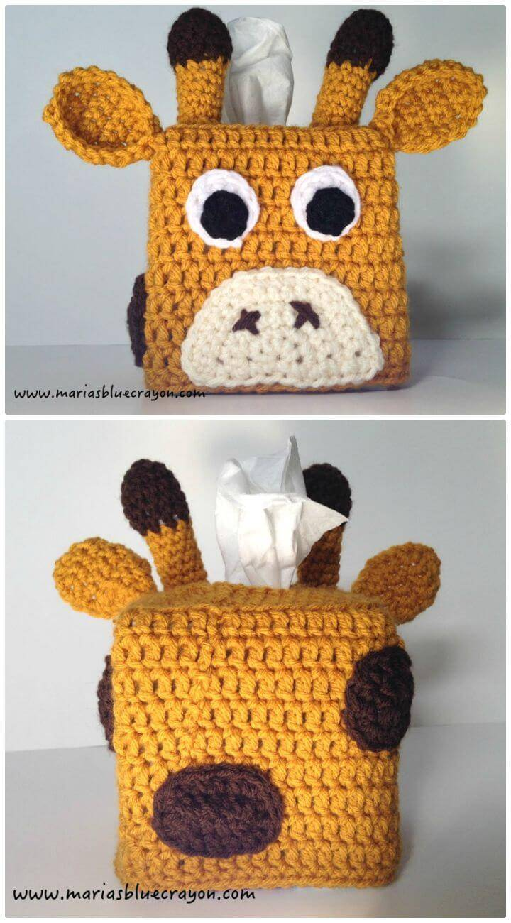 Free Crochet Giraffe Tissue Box Cover