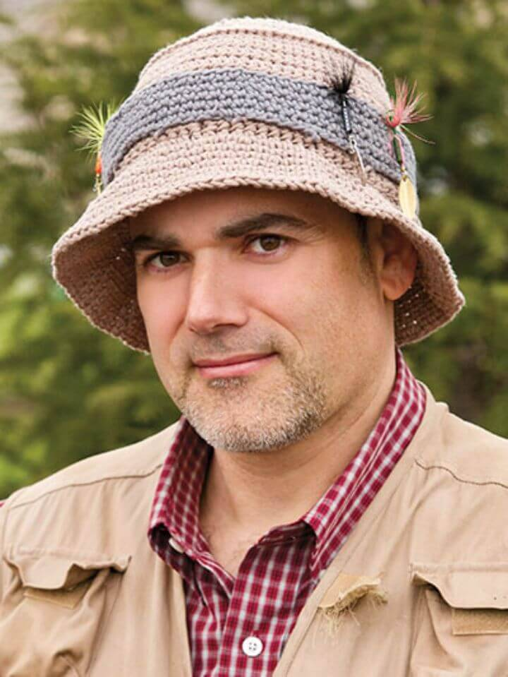 How To Free Crochet Gone Fishin Hat Pattern