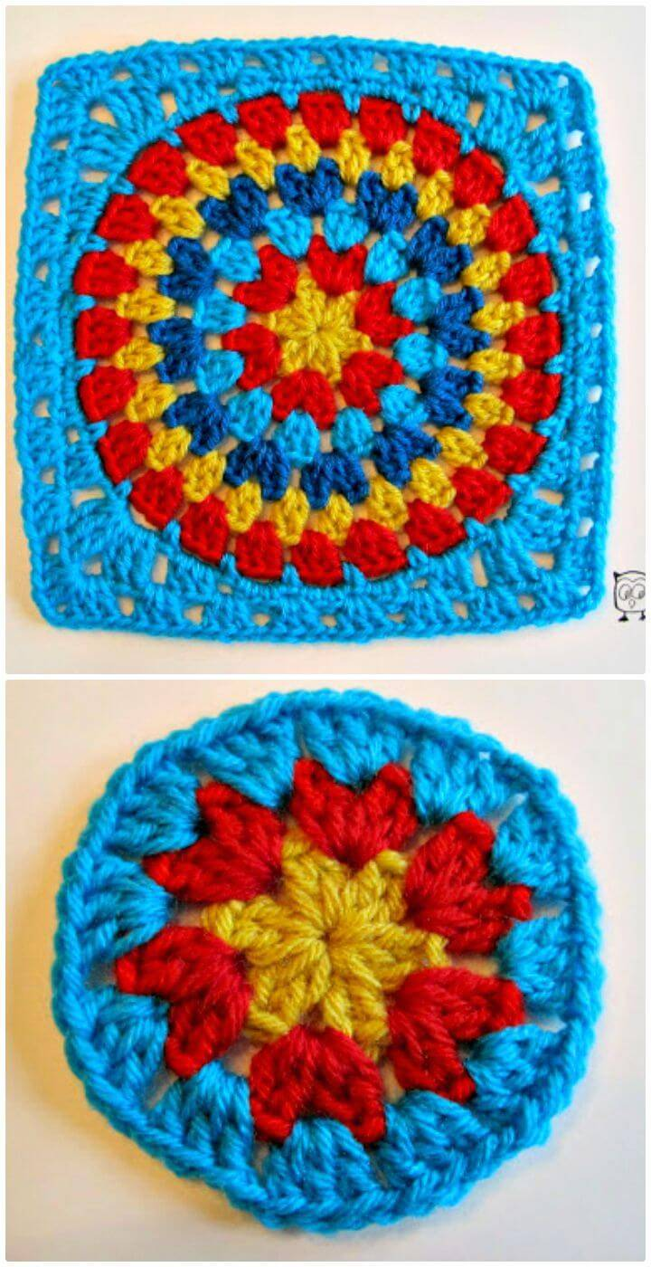 How To Free Crochet Granny Squaring The Big Circle Pattern