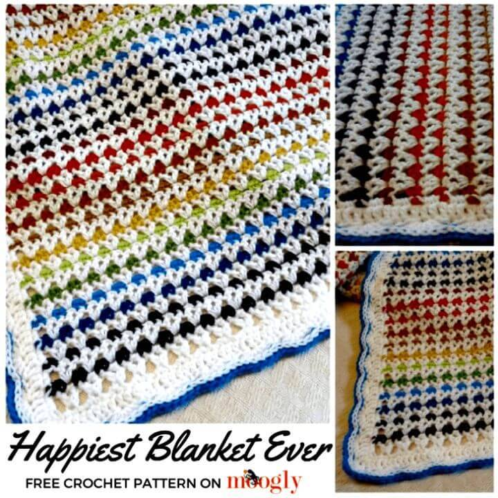 Free Crochet Happiest Blanket Ever Pattern
