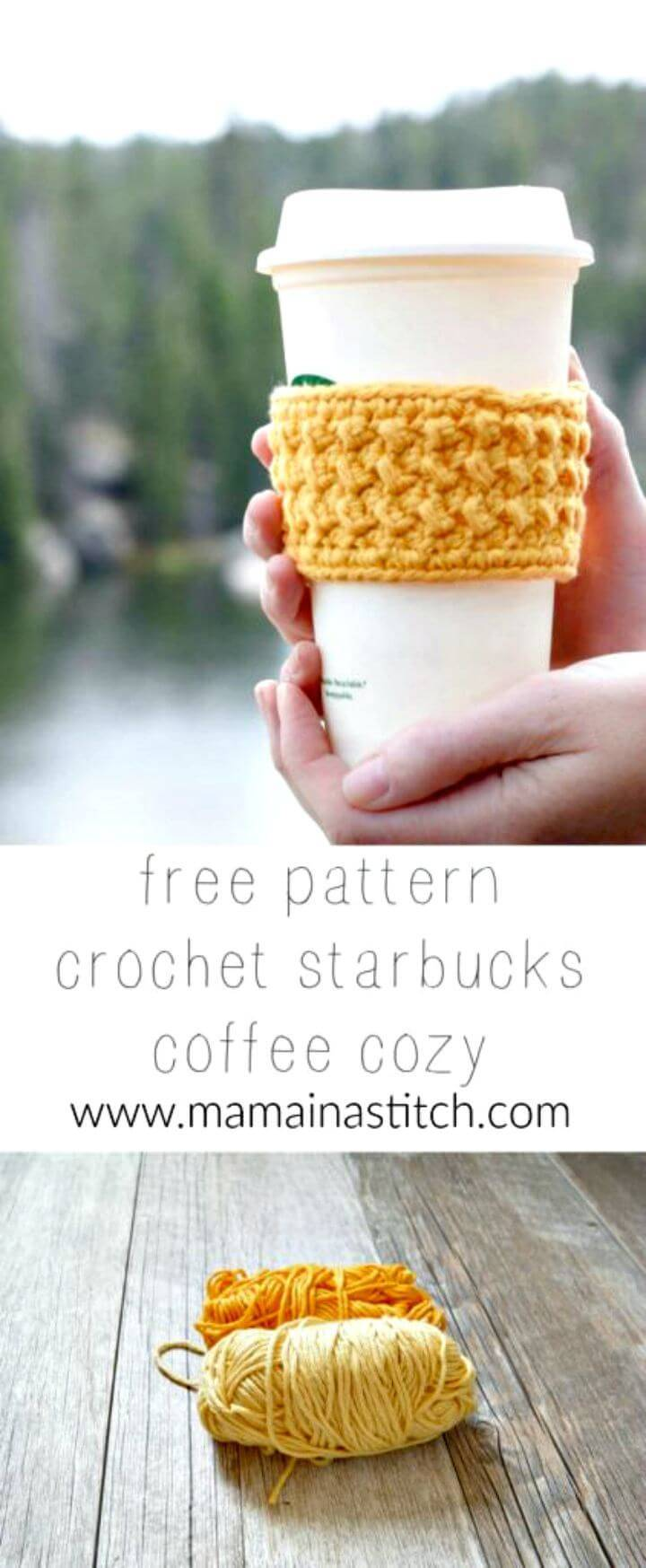 How To Free Crochet Happiest Starbucks Coffee Cup Cozy Pattern