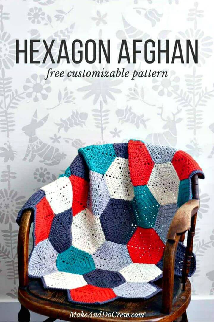 Crochet Happy Hexagons Afghan Blanket - Free Pattern