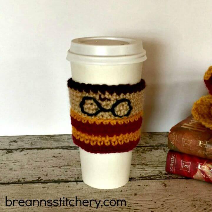 Free Crochet Harry Potter Coffee Cozy Pattern