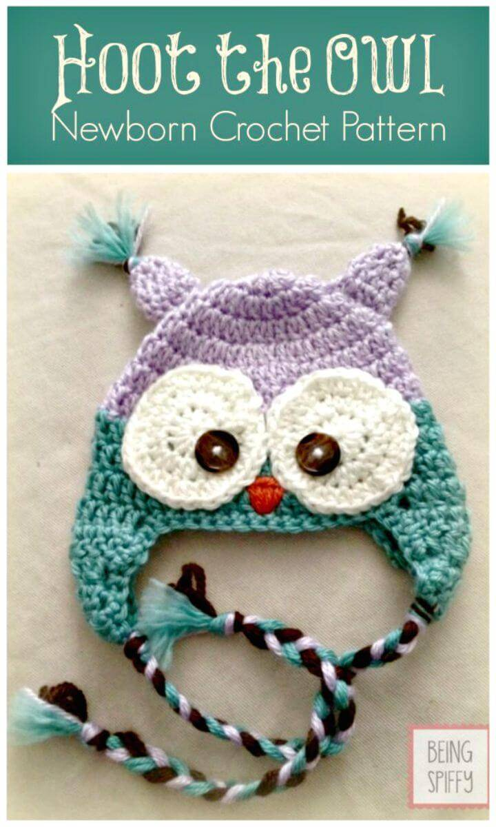 Free Crochet Hat Pattern - Hoot the Owl Newborn