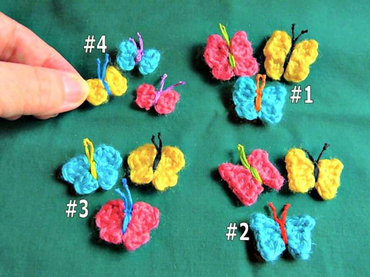How To Free Crochet Itty-Bitty Worsted Butterflies Pattern
