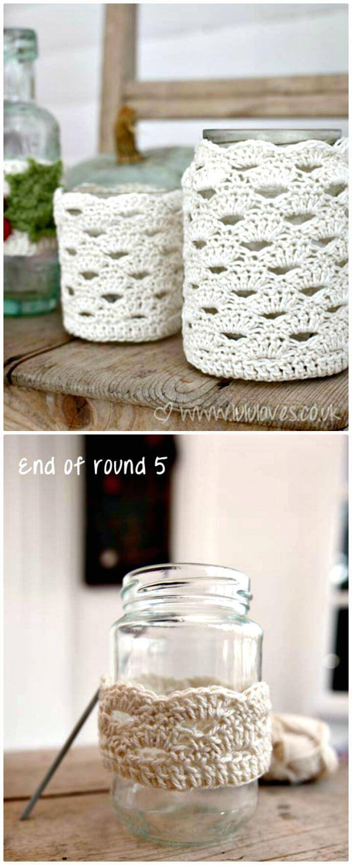How To Free Crochet Jar Cosy Pattern