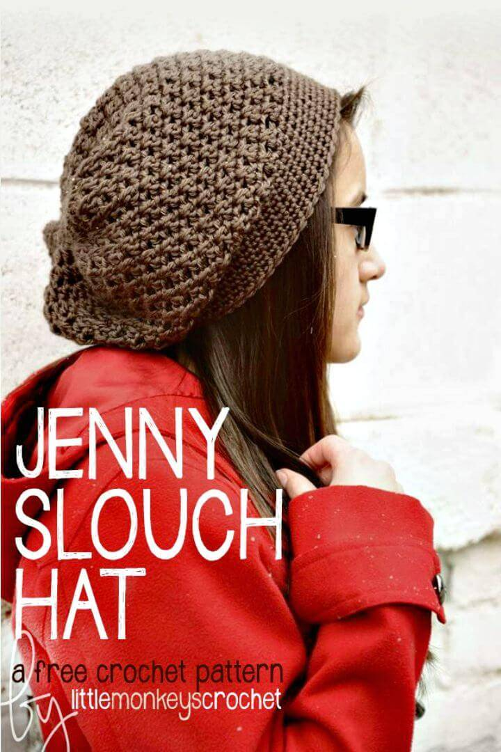 Easy And Simple Crochet Jenny Slouch Hat - Free Pattern