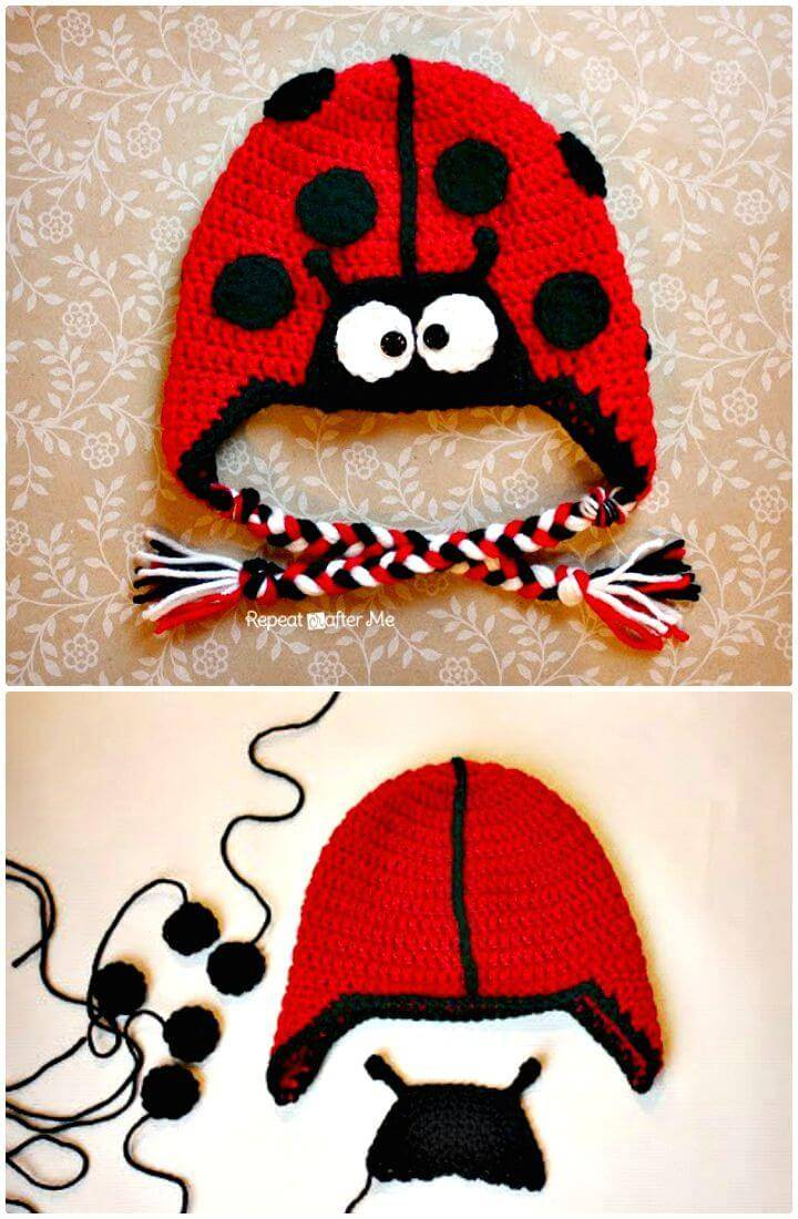 Easy Free Crochet Ladybug Hat Pattern