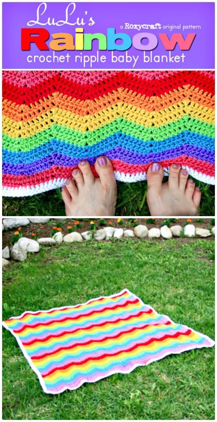 Free Crochet Lulu's Rainbow Blanket Pattern