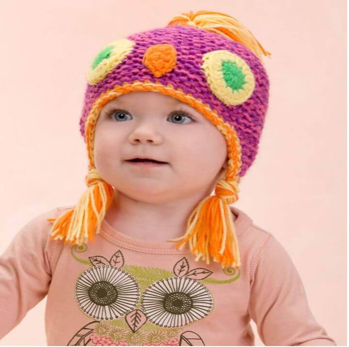 How To Free Crochet Make Me an Owl Hat Pattern