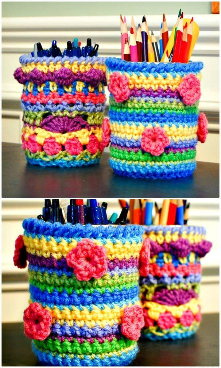 Free Crochet Mason Jar Cozy Pattern