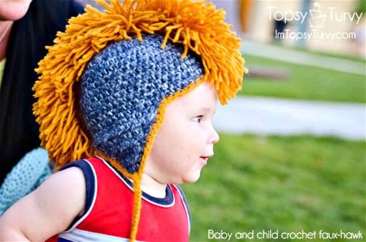 Free Crochet Mohawk Hat Pattern