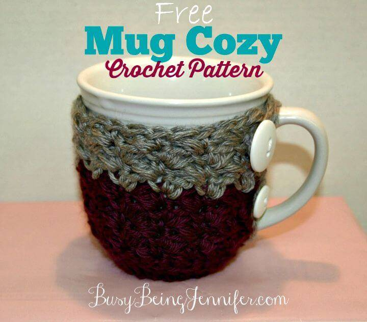 Easy Free Crochet Mug Cozy Pattern And A Gift Pattern