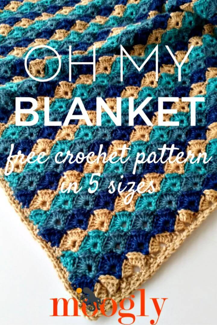 100 Free Crochet Blanket Patterns to Try Out This Weekend - DIY   Crafts 12e3266d0