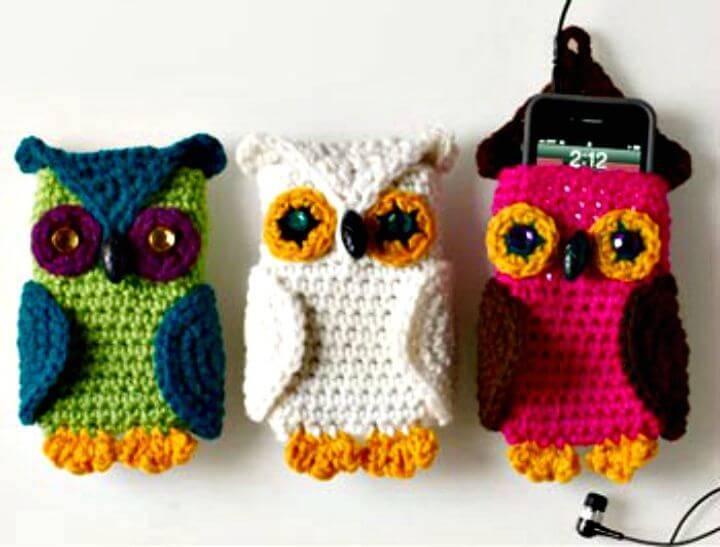 Free Crochet Owl Cell Phone Cozy Pattern