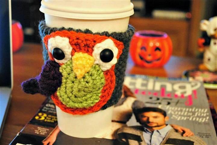 Free Crochet Owl Cup Cozy Pattern