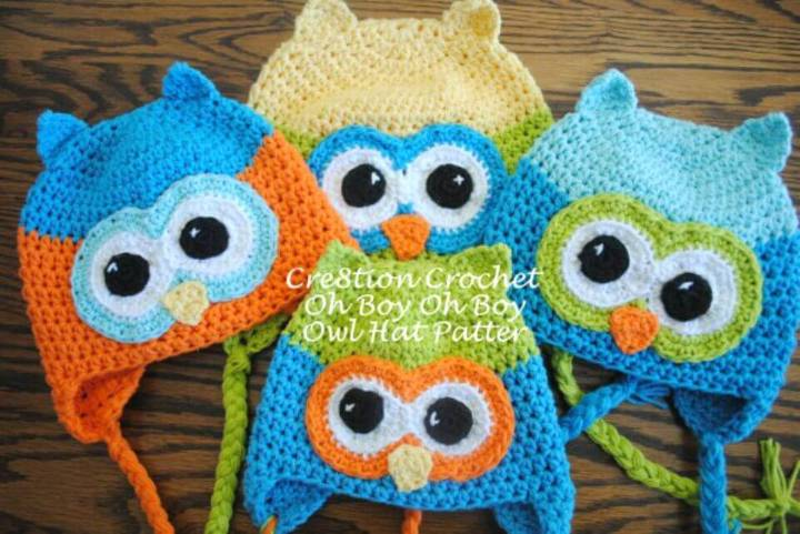 How To Easy Free Crochet Owl Hat Pattern - Oh Boy Oh Boy Owl