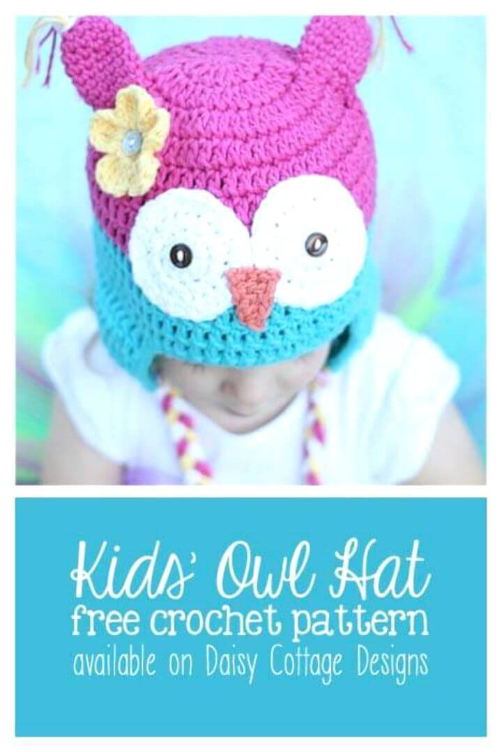 Easy Free Crochet Owl Hat Pattern - Toddler Size