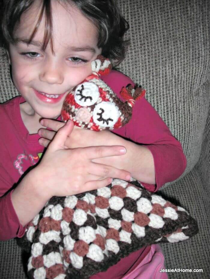 Free Crochet Owlet Lovey Pattern