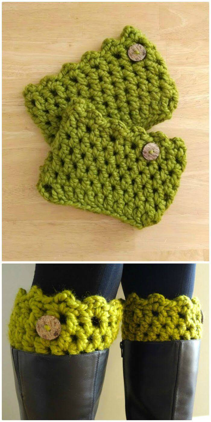 Free Crochet Pattern Boot Cuffs Pattern